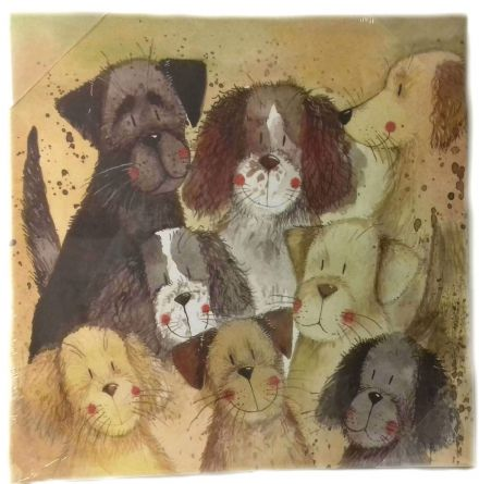 Pack of Dogs Medium Canvas